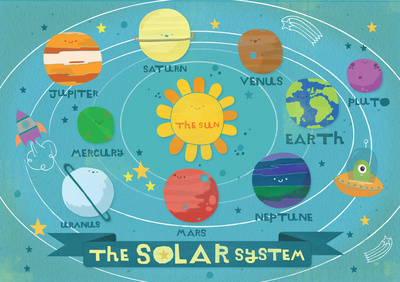 the solar system words cute font - photo #18